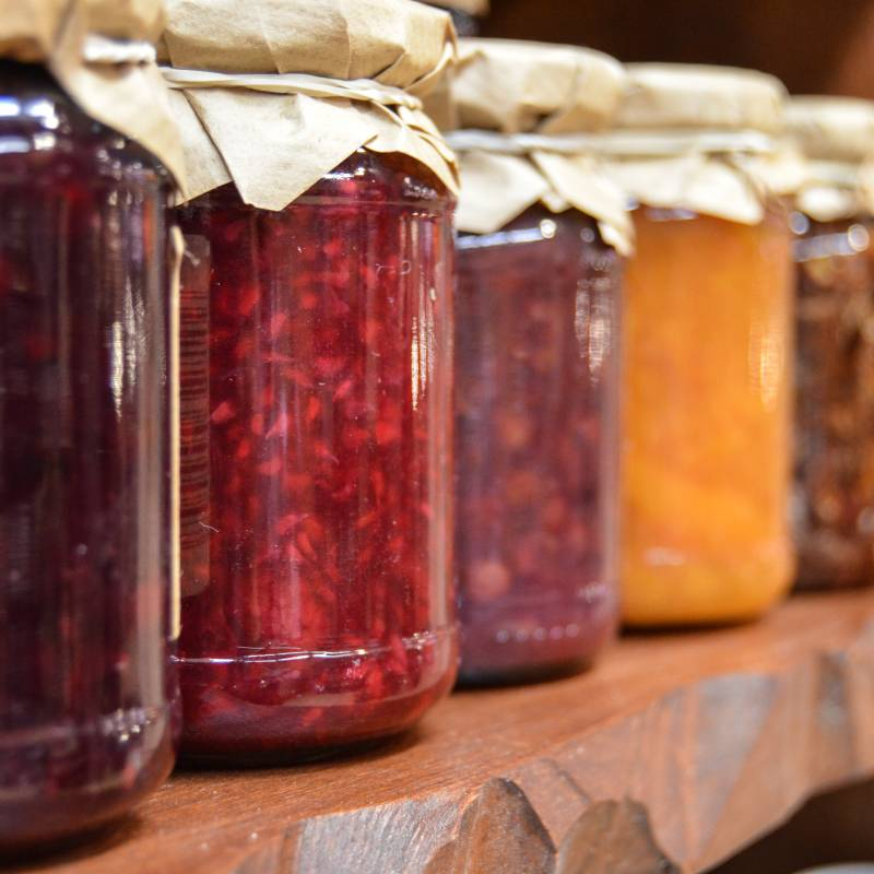 Jams and chutneys made in South West England